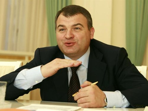 Serdyukov in More Ebullient Times (photo: Russianlook.com)