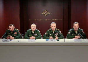 Tsalikov and Borisov Sport New Civilian Uniforms With Light Colored Epaulettes (photo: Mil.ru)