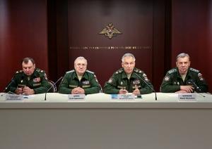 Tsalikov and Borisov Sport New Civilian Uniforms With Light Colored Epaulettes (photo: Mil.ru)