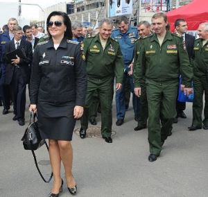 "Shevtsova Sporting the ""Office Suit"" with Four General's Stars"