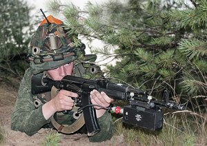 Soldier Outfitted with 9F838 Tselik Laser Fire Simulator (photo: Mil.ru)