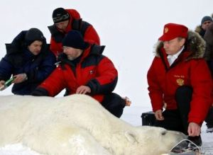 Putin on Franz Josef Land in 2010 (photo: Kremlin.ru)