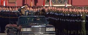 Defense Minister Shoygu Reviews Troops Before 9 May Parade