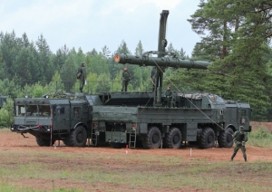 Iskander-K Cruise Missile Canister Being Transloaded (photo: Mil.ru)