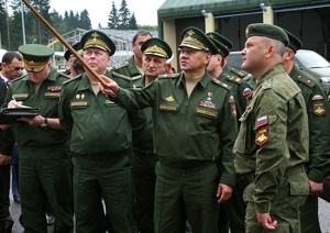 Shoygu Points Something Out, Colonel on Right Likely the Brigade's Commander (photo: Mil.ru)