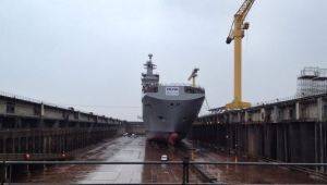 First Russian Mistral at DCNS (photo: RIA Novosti  / Daniil Nizamutdinov)