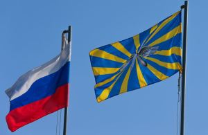 RF and Air Forces Flags (photo: Mil.ru)