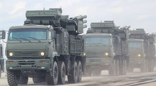 Pantsir-S unit on the march (photo TASS Valeriy Sharifulin)