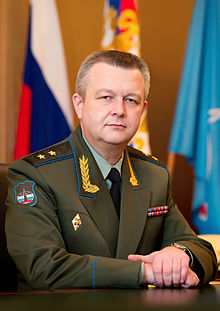 Colonel-General Aleksandr Golovko wearing his old two-star rank