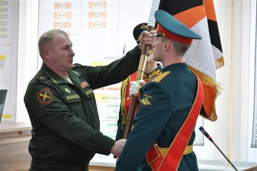general-major andrey kolotovkin receives the 2nd caa standard