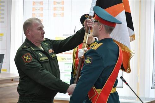 general-major andrey kolotovkin receives the 2nd caa standard