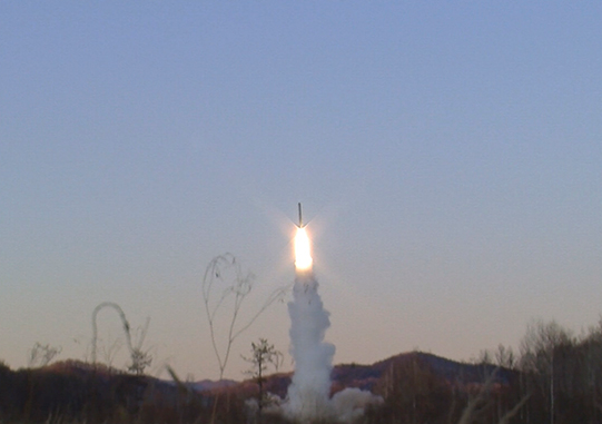 RS-24 Yars ICBM launched from Plesetsk