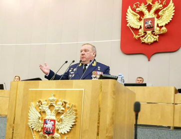 Shamanov addressing the Duma in 2018.PNG