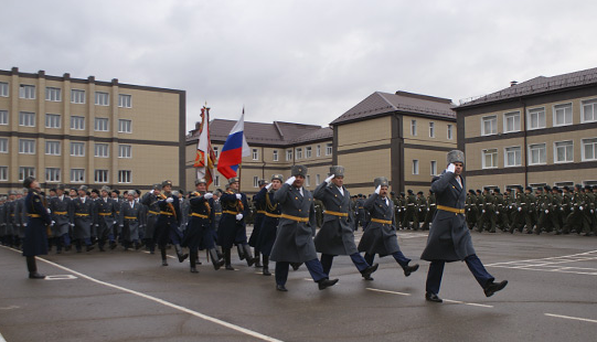 Parade at the Ryazan Higher Airborne Command School named for Army General V. F. Magelov