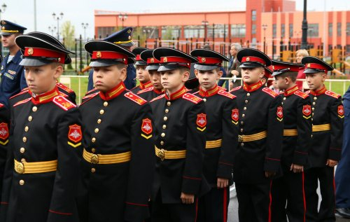 Cadets at the Tula Suvorov Military School