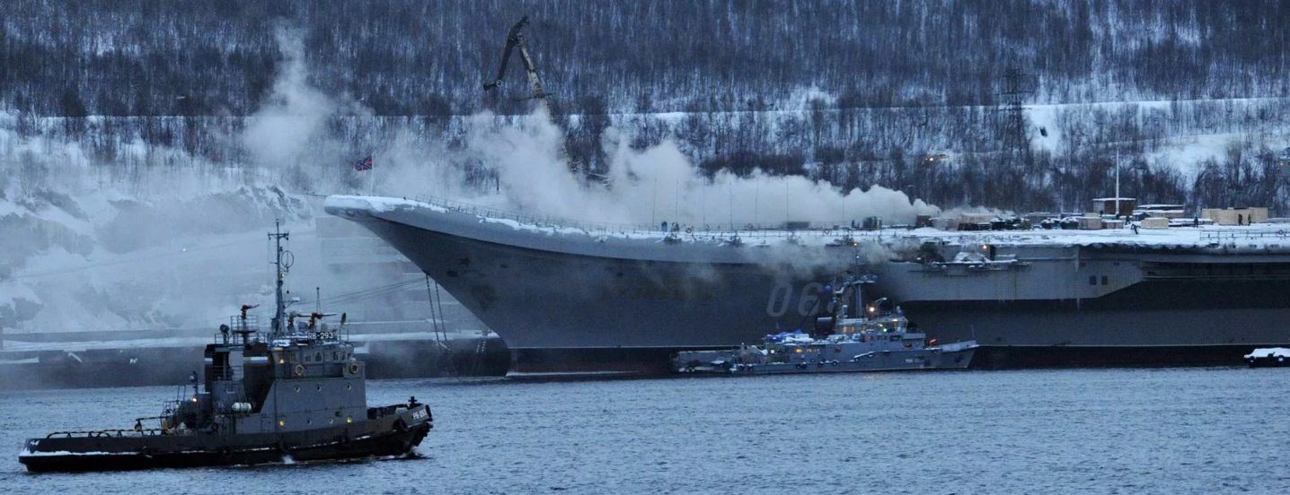 Admiral Kuznetsov on fire