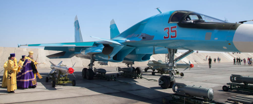 Blessing a Su-34 and its weapons in Volgodonsk