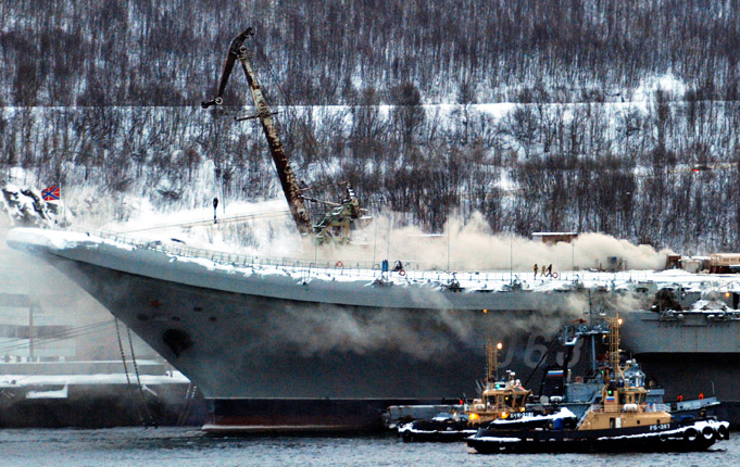 Fire on Admiral Kuznetsov
