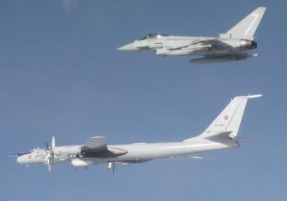 RAF Typhoon intercepts Bear F