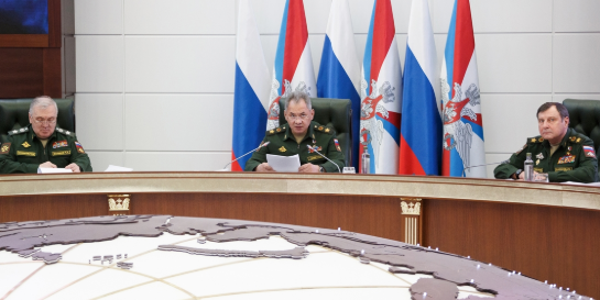 Shoygu addresses the Collegium