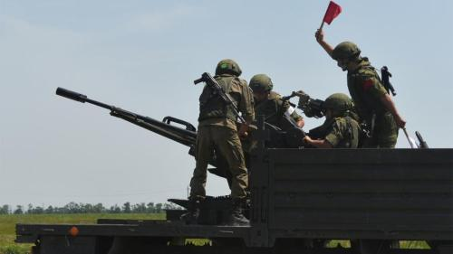 ZU-23-2 mounted on truck bed