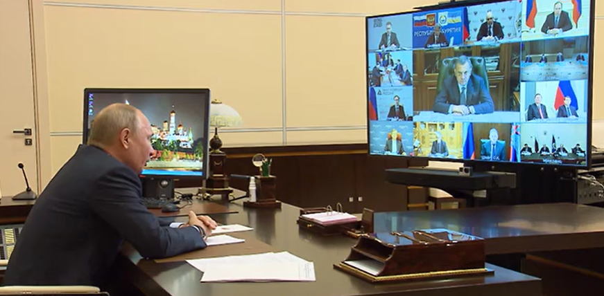 Videoconference on help to the aviation industry